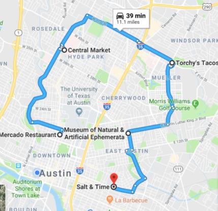 day 2 austin map