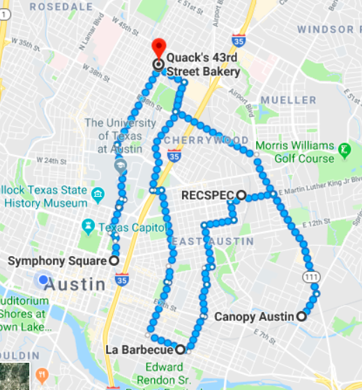 map austin day 1